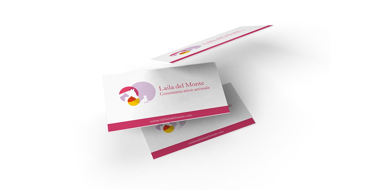 Laila del Monte carte de visite Réonance graphique Thierry Lo-Shung-Line