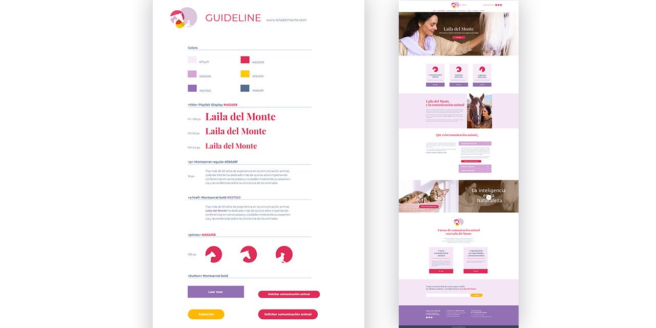 Laila del Monte Webdesign Réonance graphique Thierry Lo-Shung-Line